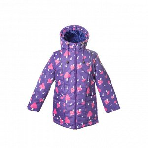 Куртка демисезон Арт. 10235 МЕМБРАНА принт фиолетовый грибочки
