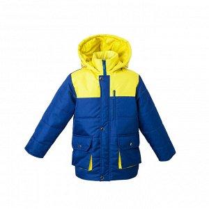 Куртка зимняя Арт. 04073 т.синий-желтый