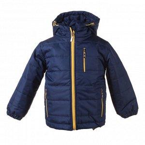 Куртка демисезон Арт. 04031 темно синий – желтая молния