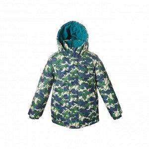 Куртка демисезон Арт. 10115 МЕМБРАНА принт защитный сине-зеленый