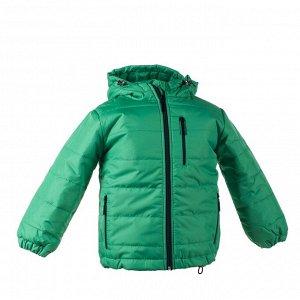 Куртка демисезон Арт. 04031 зеленый луг-черная молния