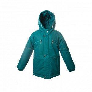 Куртка зимняя Арт. 10120 однотонный зеленый