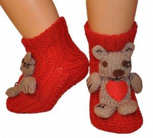 """Носки детские """"Hobby Line""""/12/вязаные, АВС, мышонок с сердечком"""
