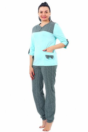 "Пижама с брюками кулирка ""Соня зелень"""