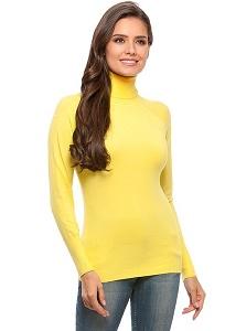 Водолазка женская желтая