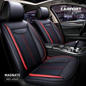 Чехлы (накидки) CARFORT Magnate черные, экокожа, комплект для переднего и заднего ряда