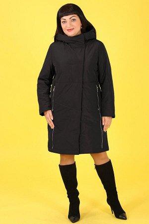 Черный Примечание:замеры длин соответствуют размеру 54 Длина пальто:95 см Длина рукава:63 см Подкладка:есть, холлофайбер Застежка:молния, кнопки Карманы:есть, два функциональных на молнии Декор: