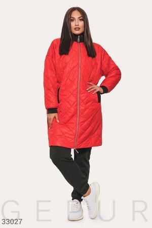 Двухцветная стеганая куртка