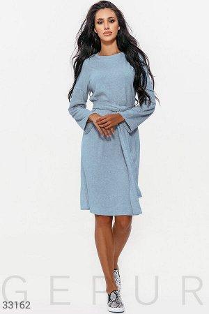 Уютное голубое платье