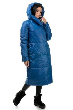 Пальто «Сьюзи»,44-50, арт.257 сапфир