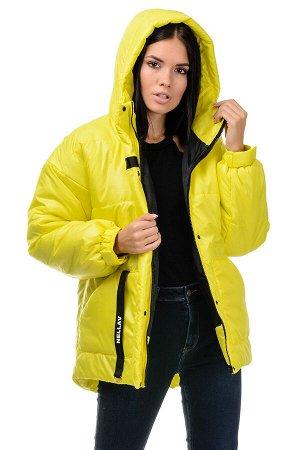 Зимняя куртка «Джемма», 44-50, арт.249 лимонный
