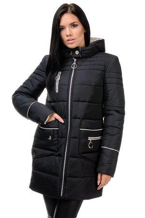Зимняя куртка «Пэм», 42-48, арт.248 черный