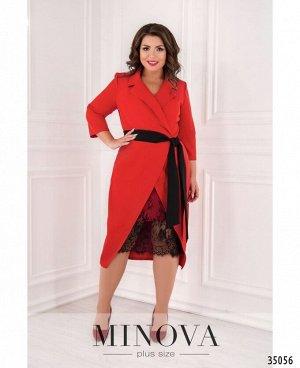 Платье №3016Б-1-красный