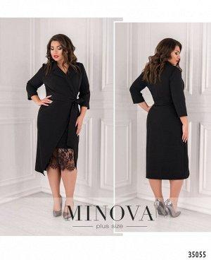 Платье №3016Б-1-черный
