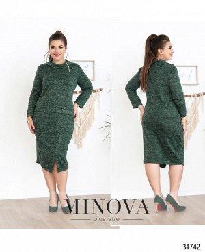 Платье №4053-1-темно-зеленый