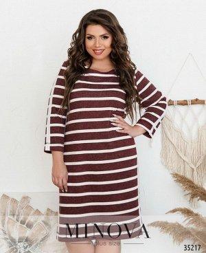 Платье №1719-коричневый
