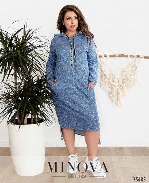 Платье №15235-синий