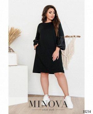 Платье №1718-1-черный