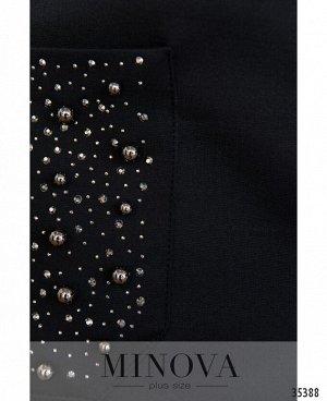 Платье №00081-черный