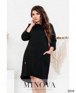 Платье №724-черный