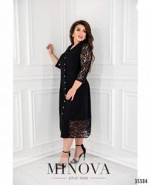 Платье №00083-черный