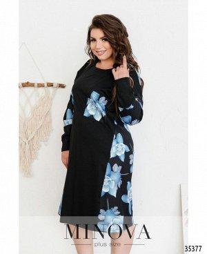 Платье №144-1-черно-синий