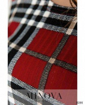 Платье №496А-красный