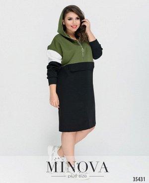 Платье №051-1-хаки