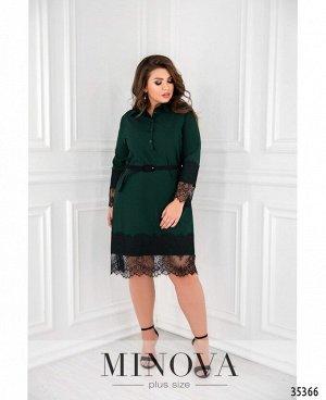 Платье №1723-1-зеленый
