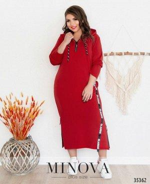 Платье №728-1-красный