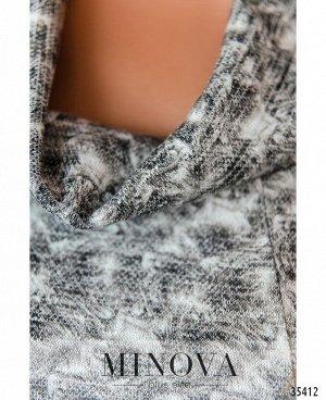 Платье №19-36-светло-серый