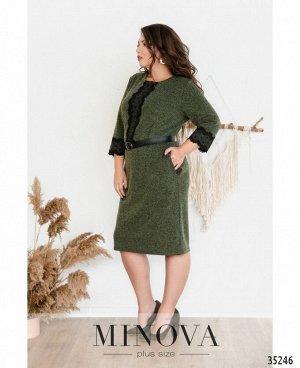 Платье №206-1-хаки