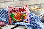 Пшеничная лапша HAOHAO вкус креветки (остро-кисло-сладкая). 75 грамм