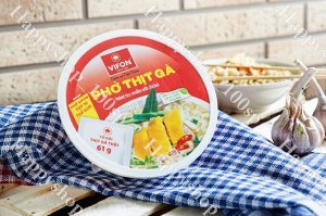Рисовая лапша с курицей чашка