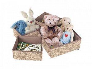 Набор раскладных коробок для хранения вещей (4 шт.),