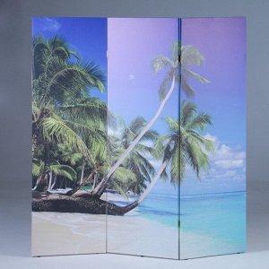 """Ширма """"Пальмы на пляже"""", 160 ? 150 см"""