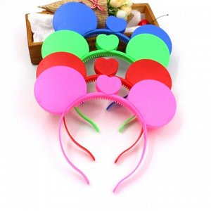 """Ободок светящийся """"Мышиные ушки"""" пластиковый для детских праздников"""