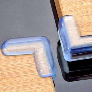 Защитная накладка для острых углов силиконовая от ударов, комплект 4 шт.