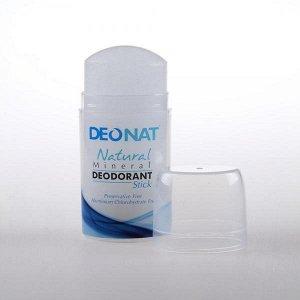 DeoNat дезодорант кристалл плавленый ,стик овальный, пушап , 100 гр.