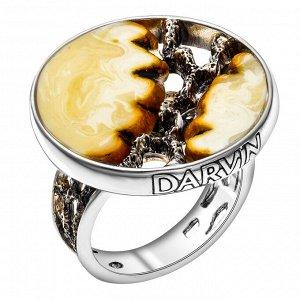 Кольцо из серебра с янтарём белым 520034005aa