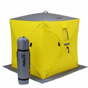 Палатка зимняя Куб 1,5х1,5 yellow/gray (HS-ISC-150YG) Helios