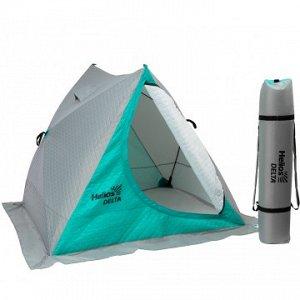 Палатка зимняя двускатная DELTA Комфорт biruza/gray (HS-ISDC-BG) Helios
