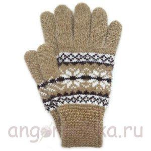 Вязаные шерстяные перчатки - 400.154