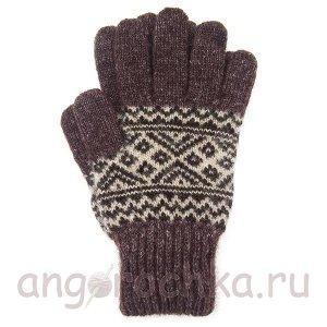 Мужские шерстяные перчатки с орнаментом - 400.167