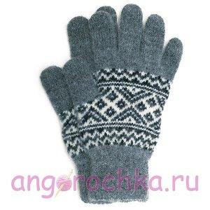 Вязаные мужские шерстяные перчатки - 400.147