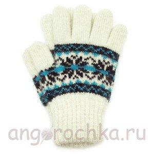 Детские перчатки из чистой шерсти - 410.4