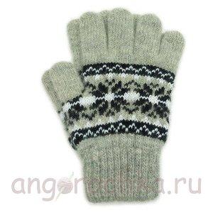 Серые детские перчатки - 410.3