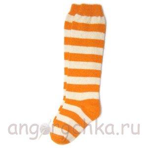 Женские шерстяные гольфы в желтую полоску - 805.22
