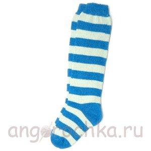 Женские шерстяные гольфы в голубую полоску - 805.17