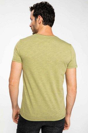 Slim Fit футболка с принтом